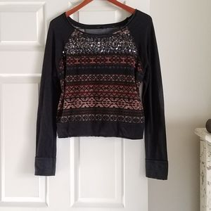 Miss Me M Pullover Light Sweatshirt Very Good Cond